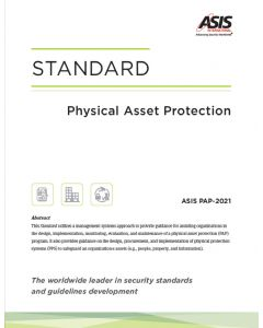 Physical Asset Protection Standard (Softcover)