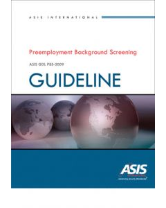 Preemployment Background Screening Guideline, 2009 Ed (Softcover)