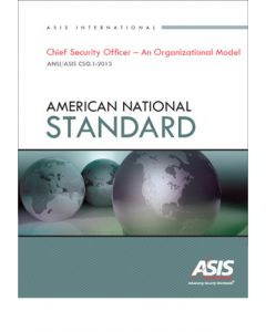 Chief Security Officer - An Organizational Model Standard (Softcover)