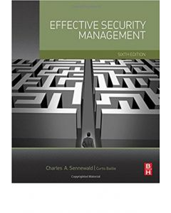 Effective Security Management, 6th Ed (Hardcover)