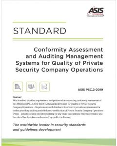 Conformity Assessment and Auditing Management Systems for Quality of Private Security Company Operations Standard (E-Book)