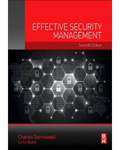 Effective Security Management 7th Edition